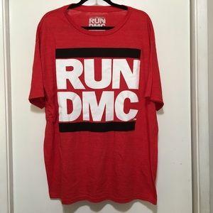 Other - RUN DMC Men's Crewneck T-Shirt XL Red Shirt